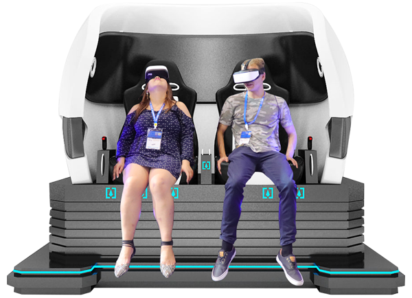 2 Players 9D VR Egg Chair Virtual Reality Simulator Rides In India