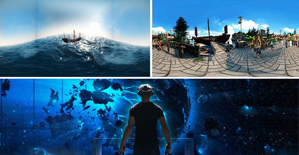 Virtual simulation of ancient Chinese historical relics, virtual rendering of VR ancient ships