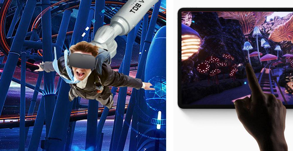virtual reality rabotic arm cinema