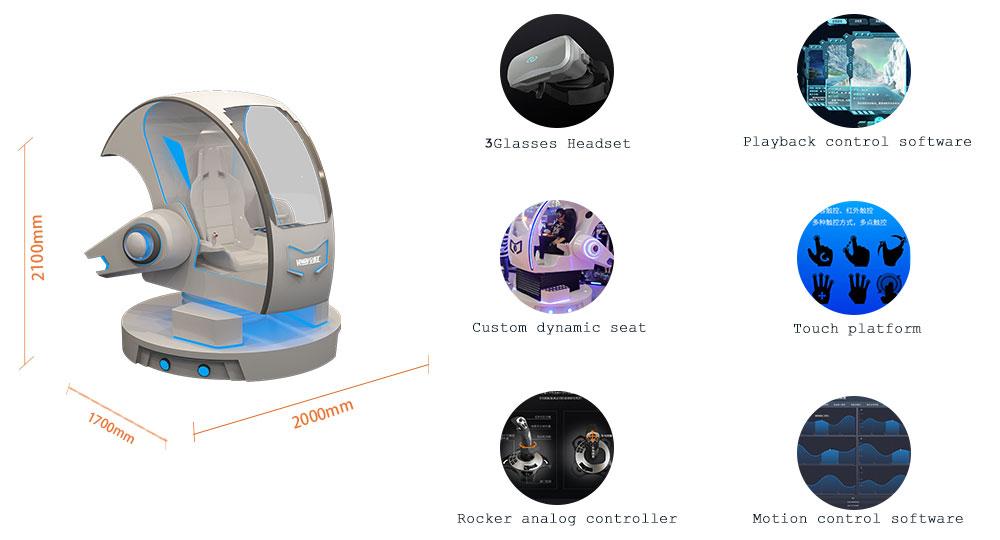 VR arcade aircraft game machine Flight Simulator