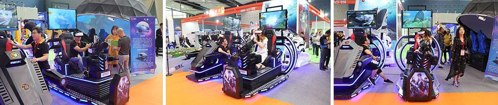 New Equipment 9D Shooting Game Virtual Reality Simulator Vive Gun Gatling VR Simulator