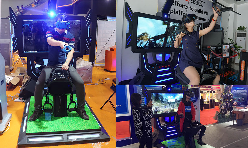 VR Exercise Equipment Horse Riding Simulator 9D Indoor Shooting Game