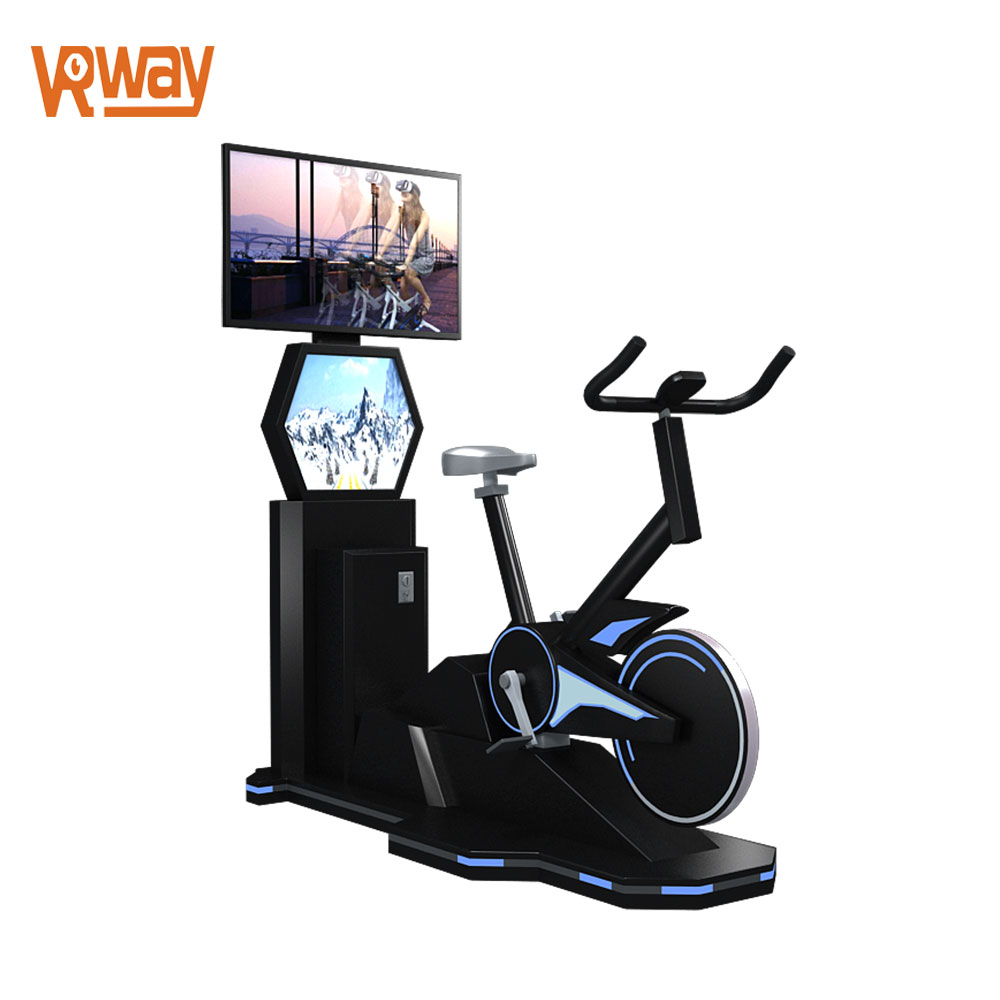VR Game Bike Ride Simulator Virtual Reality Bike Gym Equipment