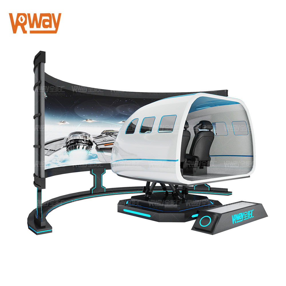 VR Fighter Shooting Game Machine Airplane Virtual Reality Simulator