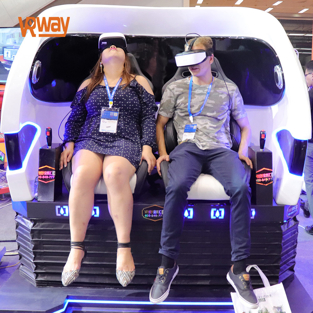 VRway 2 players 9d vr egg chair Virtual reality simulator rides