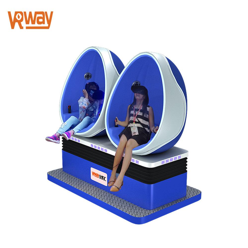 9D VR 2 Seats Egg Chair Virtual Reality Cinema