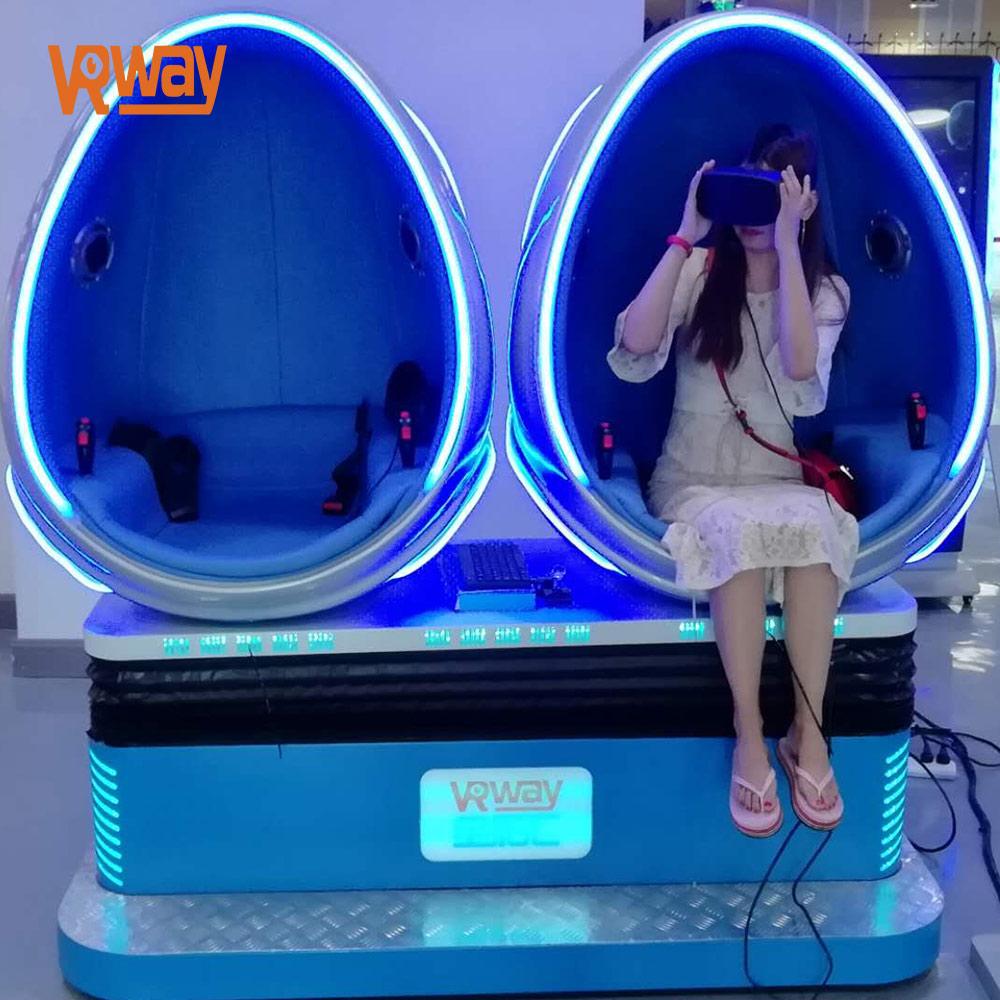 VRway 9d vr 2 seats egg chair 9d egg vr cinema 2 seats