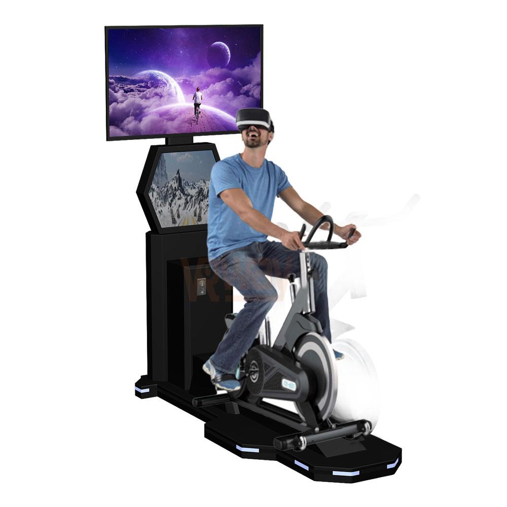 VR Game Bike Ride Simulator Virtual Reality Bike Gym Equipment