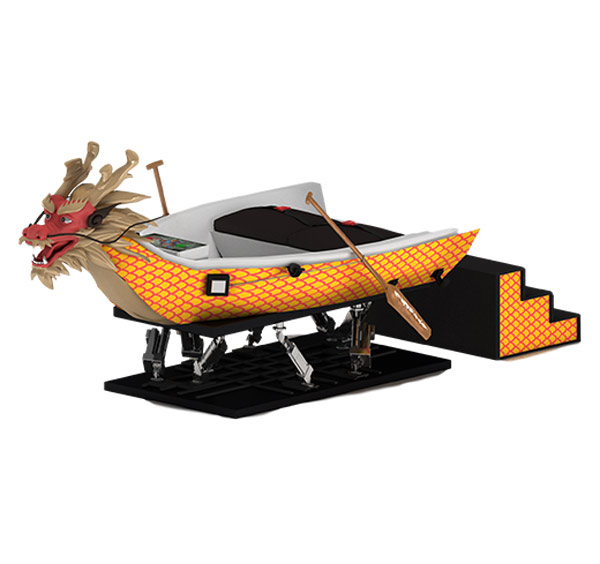 Chinese cultural genetic VR dragon boat simulation equipment