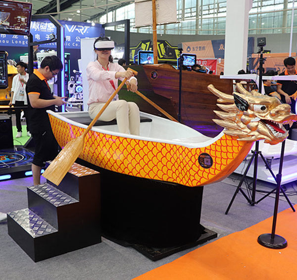 VR dragon boat