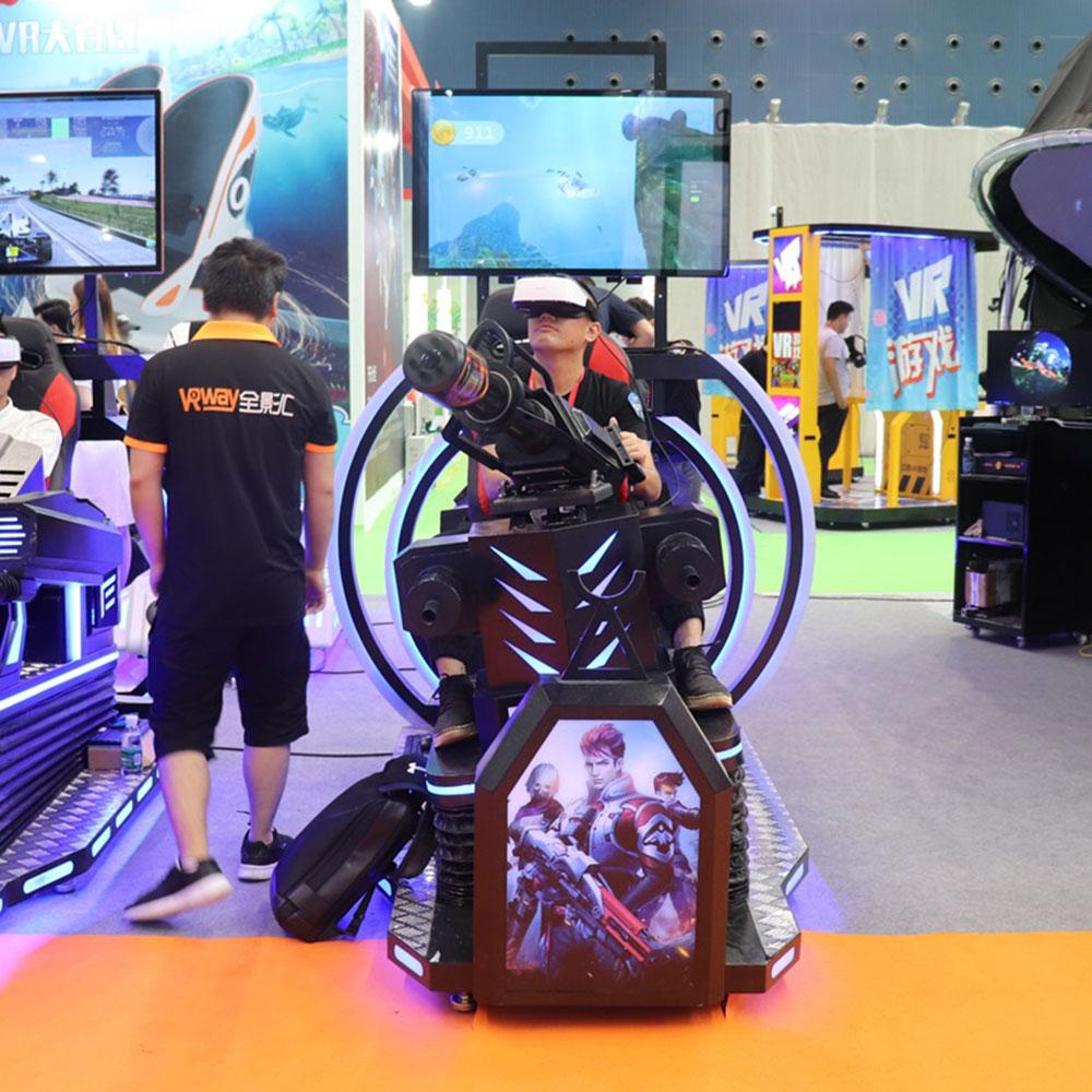 VRway VR Gatling Gun shooting vr simulator galtin