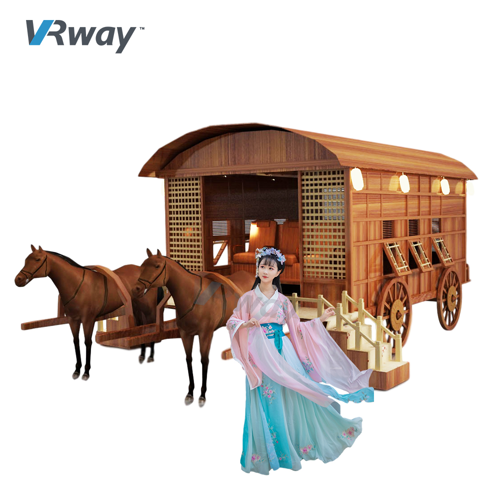 Chinese history and culture ancient carriage virtual rendering