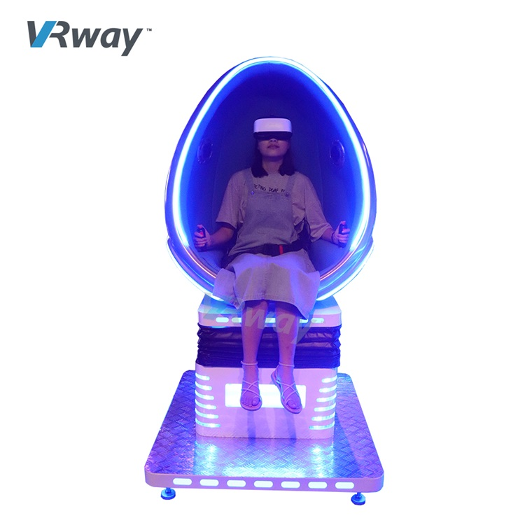 China 9D Cinema Virtual Reality Simulator VR Single Chair Egg VRway